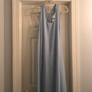 NWT Powder Blue Formal Maxi Dress